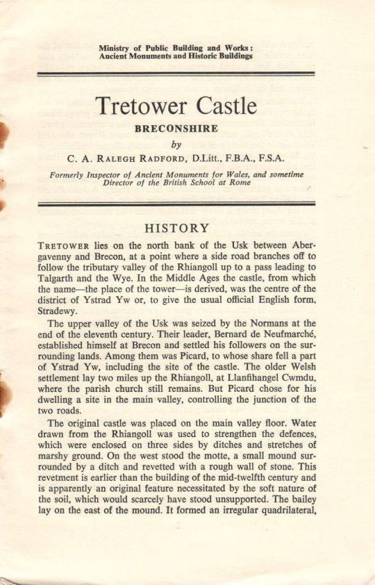 Tretower Castle (1965)
