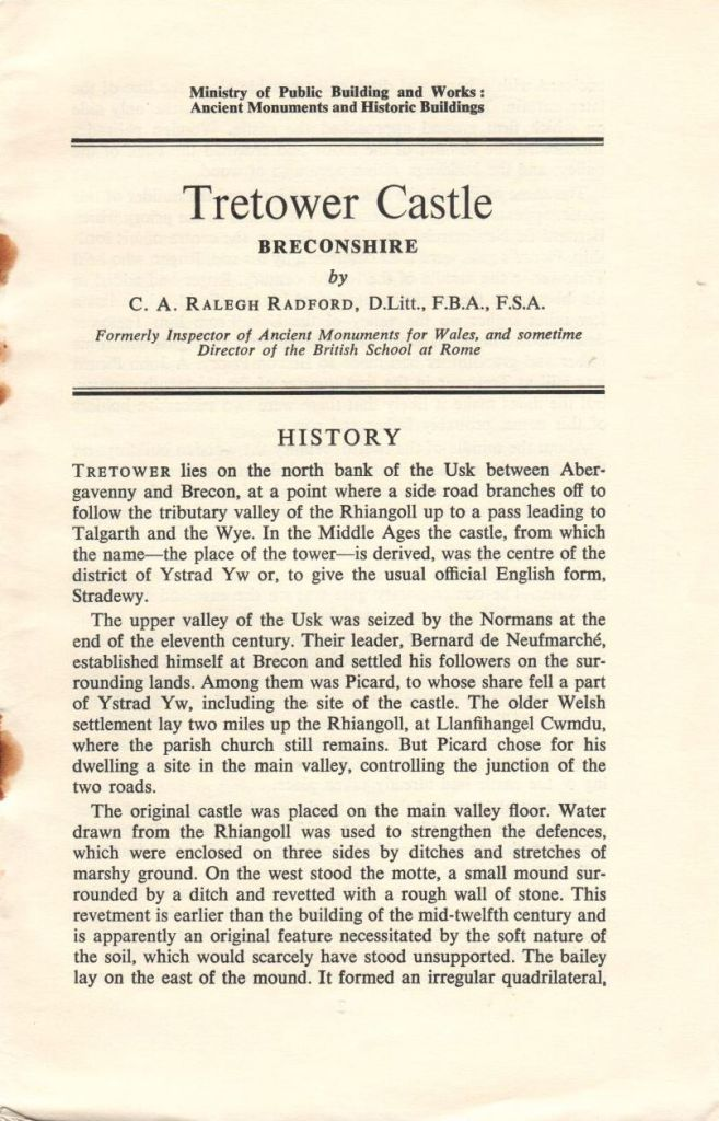 Tretower Castle (1965)