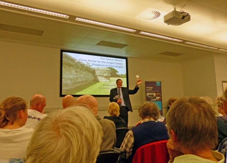 Professor David Gill at 2014 UCS Heritage Lecture © Caroline Gill