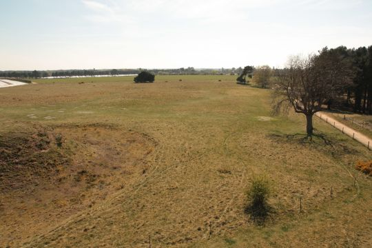 View over the Sutton Hoo burial site (April 2015)  © David Gill