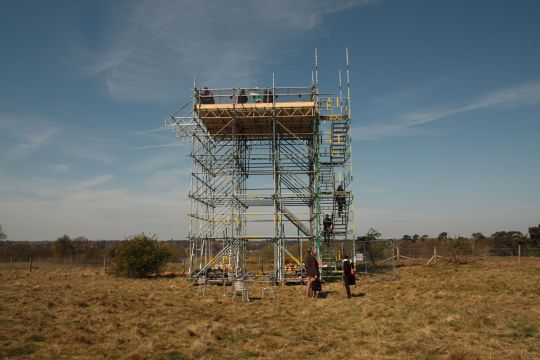 Viewing platform at Sutton Hoo (April 2015) © David Gill